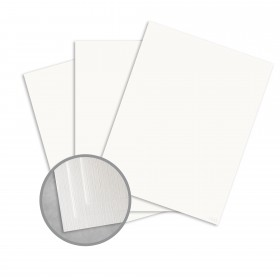 Royal Sundance 100 PC White Card Stock - 18 x 12 in 100 lb Cover Linen Digital  100% Recycled 250 per Package