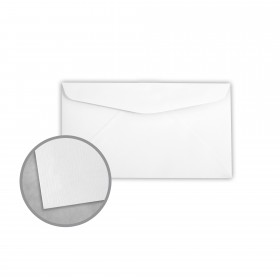 Royal Sundance Bright White Envelopes - No. 6 3/4 Regular (3 5/8 x 6 1/2) 24 lb Writing Laser Laid  30% Recycled Watermarked 500 per Box