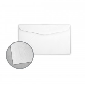 Royal Sundance Bright White Envelopes - No. 6 3/4 Regular (3 5/8 x 6 1/2) 24 lb Writing Linen  30% Recycled Watermarked 500 per Box