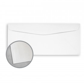 Royal Sundance Bright White Envelopes - No. 9 Regular (3 7/8 x 8 7/8) 24 lb Writing Linen  30% Recycled Watermarked 500 per Box