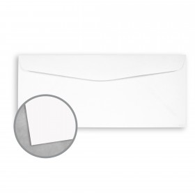 Royal Sundance Brilliant White Envelopes - No. 10 Commercial (4 1/8 x 9 1/2) 80 lb Text Smooth 500 per Box