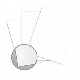 Royal Sundance Brilliant White Card Stock - 8 1/2 x 11 in 80 lb Cover Smooth 250 per Package