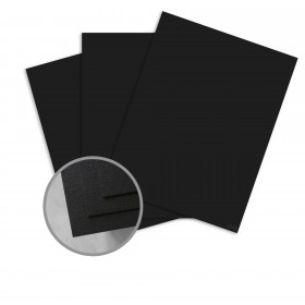 Royal Sundance Eclipse Black Card Stock - 26 x 40 in 100 lb Cover Linen  30% Recycled 100 per Carton