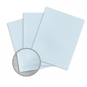 Royal Sundance Ice Blue Card Stock - 8 1/2 x 11 in 80 lb Cover Smooth Fiber  30% Recycled 250 per Package