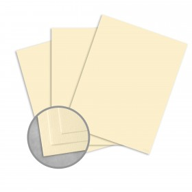Royal Sundance Ivory Card Stock - 26 x 40 in 80 lb Cover Laid  30% Recycled 300 per Carton