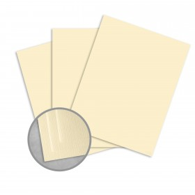 Royal Sundance Ivory Card Stock - 26 x 40 in 80 lb Cover Linen  30% Recycled 300 per Carton