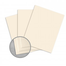 Royal Sundance Natural White Card Stock - 26 x 40 in 100 lb Cover Felt  30% Recycled 250 per Carton