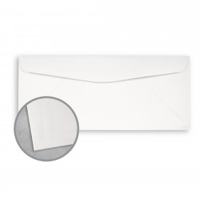 Royal Sundance Ultra White Envelopes - No. 10 Commercial (4 1/8 x 9 1/2) 80 lb Text Felt  30% Recycled 500 per Box