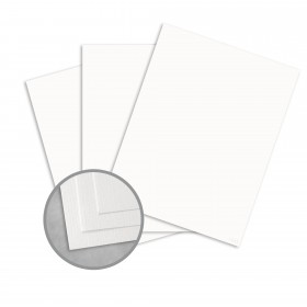 Royal Sundance Ultra White Card Stock - 8 1/2 x 11 in 80 lb Cover Laid  30% Recycled 250 per Package