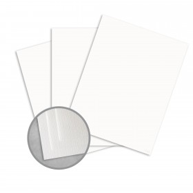 Royal Sundance Ultra White Card Stock - 8 1/2 x 11 in 80 lb Cover Linen  30% Recycled 250 per Package