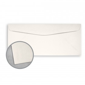 Royal Sundance Warm White Envelopes - No. 10 Commercial (4 1/8 x 9 1/2) 80 lb Text Felt  30% Recycled 500 per Box