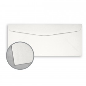 Royal Sundance White Envelopes - No. 10 Commercial (4 1/8 x 9 1/2) 80 lb Text Felt  30% Recycled 500 per Box
