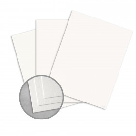 Royal Sundance White Card Stock - 8 1/2 x 11 in 80 lb Cover Felt  30% Recycled 250 per Package