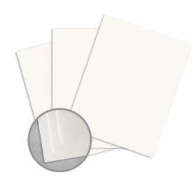 Royal Sundance White Card Stock - 35 x 23 in 80 lb Cover Linen  30% Recycled 500 per Carton