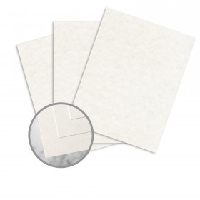 Skytone New White Card Stock - 8 1/2 x 11 in 65 lb Cover Vellum  30% Recycled 250 per Package
