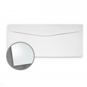so..silk White Silk Envelopes - No. 10 Commercial (4 1/8 x 9 1/2) 92 lb Cover Super Smooth C/2S 200 per Box