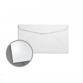 so..silk White Silk Envelopes - No. 6 3/4 Regular (3 5/8 x 6 1/2) 92 lb Cover Super Smooth C/2S 200 per Box