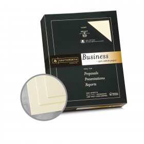 Southworth Business and Legal 25% Cotton Ivory Paper - 8 1/2 x 11 in 24 lb Bond Wove  25% Cotton Watermarked 500 per Ream