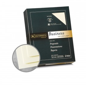 Southworth Business and Legal 25% Cotton Natural Paper - 8 1/2 x 11 in 24 lb Bond Wove  25% Cotton Watermarked 500 per Ream