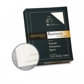 Southworth Business and Legal 25% Cotton White Paper - 8 1/2 x 11 in 20 lb Bond Wove  25% Cotton Watermarked 500 per Ream