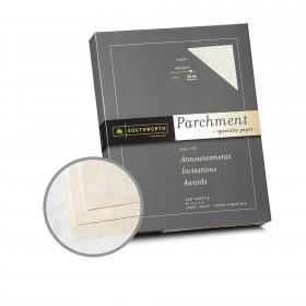 Southworth Specialty Parchment Ivory Paper - 8 1/2 x 11 in 32 lb Bond Parchment 250 per Package