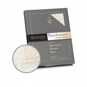 Southworth Specialty Parchment Ivory Paper - 8 1/2 x 11 in 65 lb Bond Parchment 100 per Package