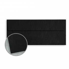 Speckletone Black Envelopes - No. 10 Square Flap (4 1/8 x 9 1/2) 70 lb Text Vellum  100% Recycled 500 per Box