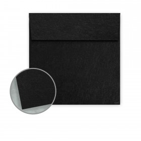 Speckletone Black Envelopes - No. 6 Square (6 x 6) 70 lb Text Vellum  100% Recycled 250 per Box
