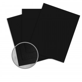Speckletone Black Card Stock - 8 1/2 x 11 in 80 lb Cover Vellum 100% Recycled 250 per Package
