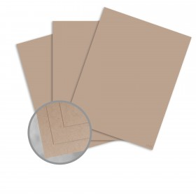 Speckletone Kraft Card Stock - 8 1/2 x 11 in 80 lb Cover Vellum 100% Recycled 250 per Package