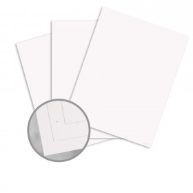 Speckletone Starch White Card Stock - 8 1/2 x 11 in 80 lb Cover Smooth 100% Recycled 250 per Package