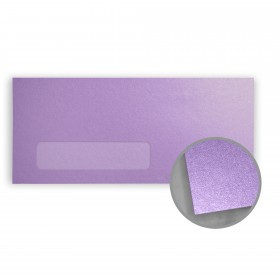 Stardream Amethyst Envelopes - No. 10 Window (4 1/8 x 9 1/2) 81 lb Text Metallic C/2S 500 per Box