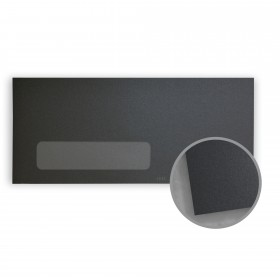 Stardream Anthracite Envelopes - No. 10 Window (4 1/8 x 9 1/2) 81 lb Text Metallic C/2S 500 per Box