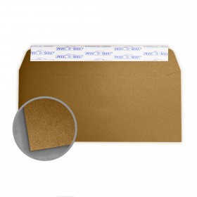Stardream Antique Gold Envelopes - No. 10 Commercial Peel & Seal (4 1/8 x 9 1/2) 81 lb Text Metallic C/2S 500 per Box