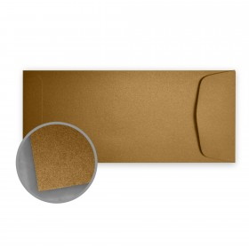 Stardream Antique Gold Envelopes - No. 10 Policy (4 1/8 x 9 1/2) 81 lb Text Metallic C/2S 500 per Box