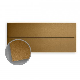Stardream Antique Gold Envelopes - No. 10 Square Flap (4 1/8 x 9 1/2) 81 lb Text Metallic C/2S 500 per Box
