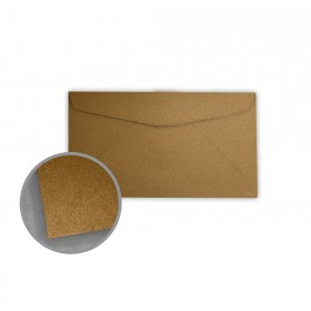 Stardream Antique Gold Envelopes - No. 6 3/4 Regular (3 5/8 x 6 1/2) 81 lb Text Metallic C/2S 400 per Box
