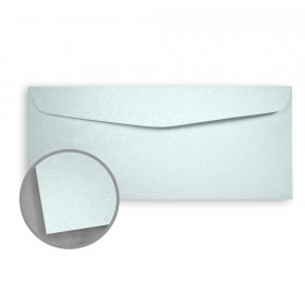 Stardream Aquamarine Envelopes - No. 10 Commercial (4 1/8 x 9 1/2) 81 lb Text Metallic C/2S 500 per Box