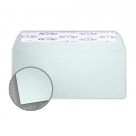 Stardream Aquamarine Envelopes - No. 10 Commercial Peel & Seal (4 1/8 x 9 1/2) 81 lb Text Metallic C/2S 500 per Box