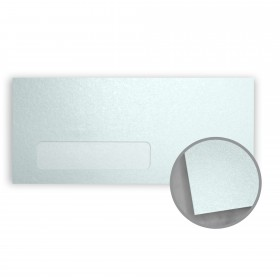 Stardream Aquamarine Envelopes - No. 10 Window (4 1/8 x 9 1/2) 81 lb Text Metallic C/2S 500 per Box
