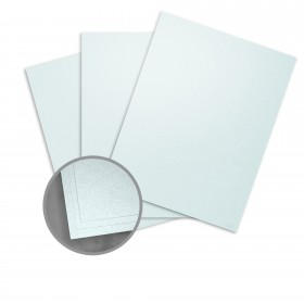 Stardream Aquamarine Card Stock - 8 1/2 x 11 in 105 lb Cover Metallic C/2S 100 per Package