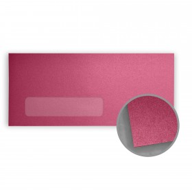 Stardream Azalea Envelopes - No. 10 Window (4 1/8 x 9 1/2) 81 lb Text Metallic C/2S 500 per Box
