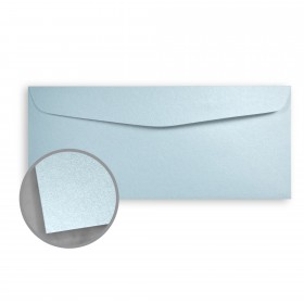 Stardream Bluebell Envelopes - No. 10 Commercial (4 1/8 x 9 1/2) 81 lb Text Metallic C/2S 500 per Box