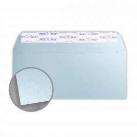 Stardream Bluebell Envelopes - No. 10 Commercial Peel & Seal (4 1/8 x 9 1/2) 81 lb Text Metallic C/2S 500 per Box