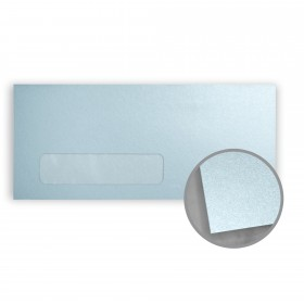 Stardream Bluebell Envelopes - No. 10 Window (4 1/8 x 9 1/2) 81 lb Text Metallic C/2S 500 per Box