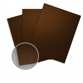 Stardream Bronze Card Stock - 8 1/2 x 11 in 105 lb Cover Metallic C/2S 100 per Package