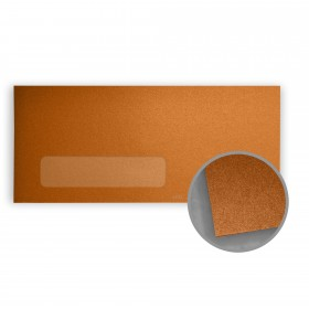 Stardream Copper Envelopes - No. 10 Window (4 1/8 x 9 1/2) 81 lb Text Metallic C/2S 500 per Box