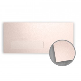 Stardream Coral Envelopes - No. 10 Window (4 1/8 x 9 1/2) 81 lb Text Metallic C/2S 500 per Box