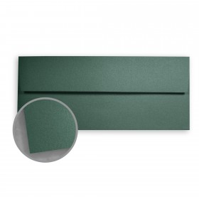 Stardream Emerald Envelopes - No. 10 Square Flap (4 1/8 x 9 1/2) 81 lb Text Metallic C/2S 500 per Box