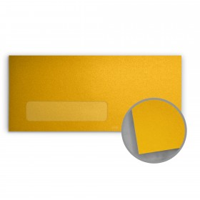 Stardream Fine Gold Envelopes - No. 10 Window (4 1/8 x 9 1/2) 81 lb Text Metallic C/2S 500 per Box